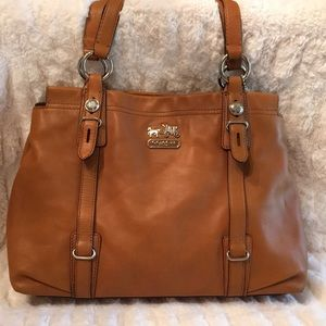 COACH MIA LEATHER CARRY ALL TOTE